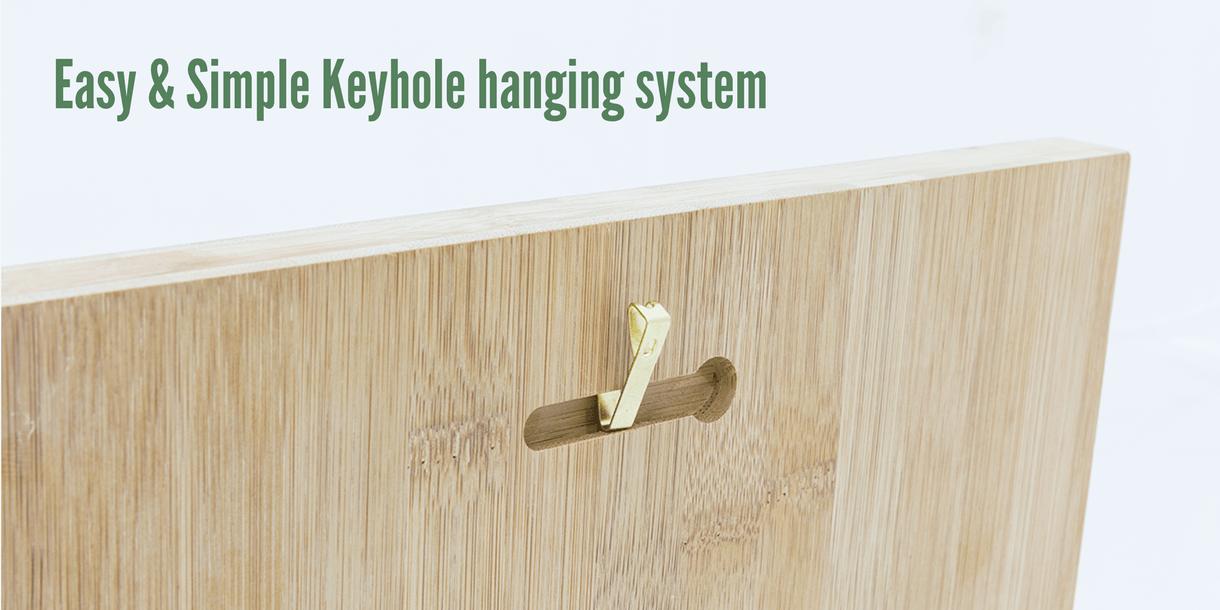 Bamboo Keyhole Hanging System