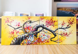 Four Panel Chinese Canvas Stretch